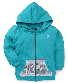 Highflier Girl Sweat Shirt With Hood - Green