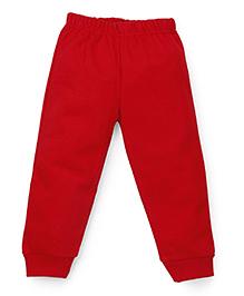 Babyhug Full Length Fleece Bottoms - Red