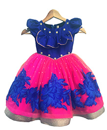 Flutterbows Designer Mishka Gown - Blue