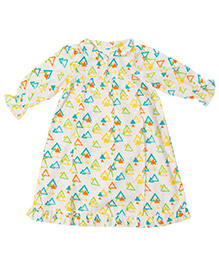 Little Bum Colorful Triangles Night Wear - Yellow & Blue