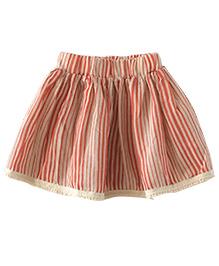 Cubmarks Striped Skirt - Orange