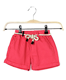 Cubmarks Shorts With Rope Belt - Red