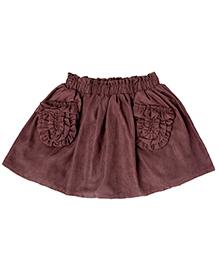 Cubmarks Corduroy Short Skirt - Brown