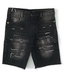 Cubmarks Ripped Denim Shorts - Black