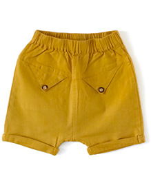 Cubmarks Cotton Shorts - Yellow