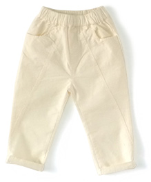 Cubmarks Long Pants With Elasticated Waist - White