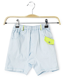 Cubmarks Shorts With Flap On The Left Curved Pocket - Blue