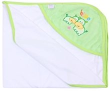 Hooded Towel With Cute Hippo Print