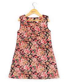 Hugsntugs Floral Sleeveless Dress - Multicolour