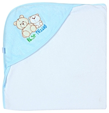 Hooded Towel With Cute Teddy Print
