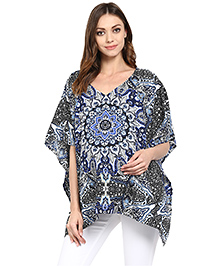 Wobbly Walk 2 In 1 Poncho Style Nursing Cover - Blue