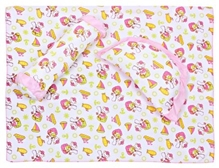 Fab n Funky - Bedsheet & Pillow Set Cute Pink Print