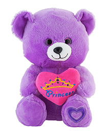 Jungly World Princess Teddy Bear Purple - 10 Inches