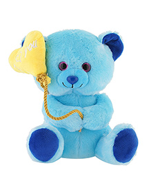 Jungly World Lovely Teddy Bear Blue - 10 Inches