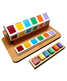 Skola Wooden Colour Wheel - Multicolor