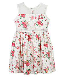 Barbie Sleeveless Floral Dress - Multicolor