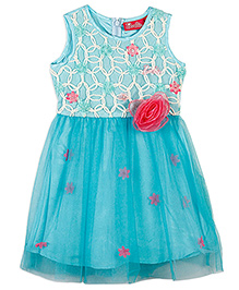 Barbie Sleeveless Party Dress 3D Corsage - Blue