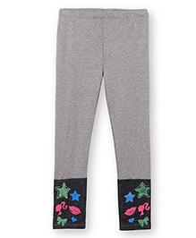 Barbie Leggings In Stretch Texture - Grey