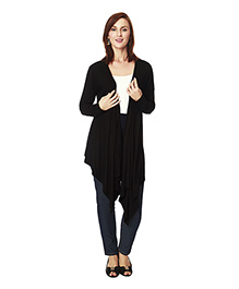 Nine Maternity Full Sleeves Maternity Shrug - Black