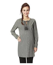 Nine Full Sleeves Maternity Tunic - Grey