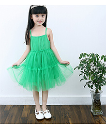 Teddy Guppies Singlet Solid Colour Frock - Green
