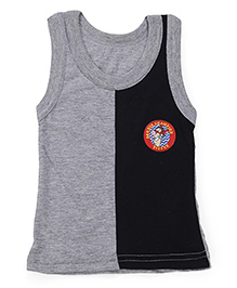 Bodycare Sleeveless Vest Dual Color - Grey Black