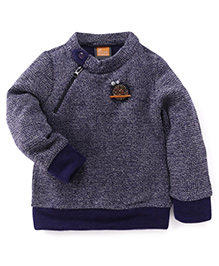 Little Kangaroos Full Sleeves Sweater Bird Patch - Navy
