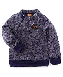 Little Kangaroos Full Sleeves Sweater Bird Patch - Navy
