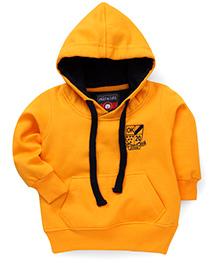 Olio Kids Full Sleeves Hooded Sweat Jacket - Burnt Orange