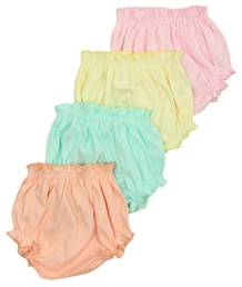 Baby Hug - Multi Color Set Of 4 Bloomers
