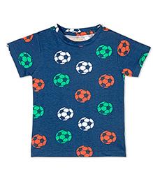 Raine And Jaine Soccer Printed T-Shirt For Boys - Blue