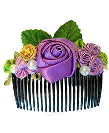 Keira's Pretties Floral Hair Comb Pin - Purple