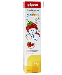 Pigeon Strawberry Flavoured Children Toothpaste - 45 gm