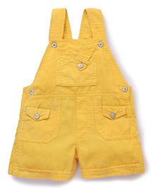 Olio Kids Corduroy Dungaree - Gold Yellow