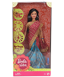 Barbie In India Doll Red And Aqua - Height 29 Cm
