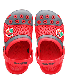 Kidsmojo Angry Birds Clogs For Kids - Grey & Red