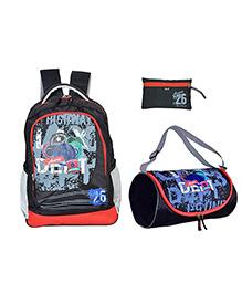 Avon Multipurpose Bag Set of 3 Black Red Grey - 18 inch