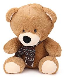 Starwalk Plush Teddy Bear Soft Toy With Muffler Brown - 29 Cm