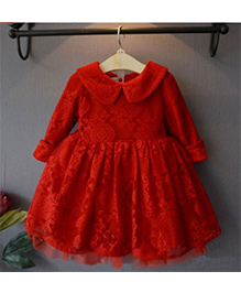 Tickles 4 U Fit & Flare Party Dress - Red