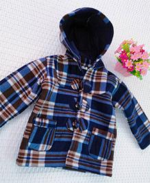 Tickles 4 U Plaid Hooded Jacket - Blue
