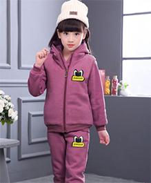Tickles 4 U Warm Sleeveless Jacket Pants & Sweatshirt Set - Purple