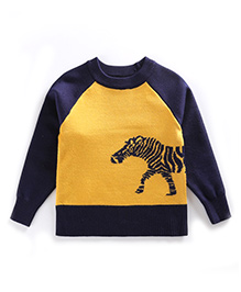 Tickles 4 U Horse Sweater - Yellow & Blue