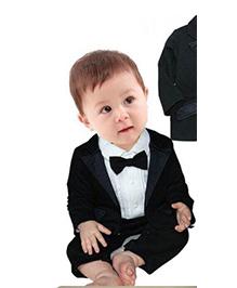 Tickles 4 U Boys Gentleman Suit Romper - Black & White