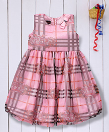 Pspeaches Printed Net Dress - Pink