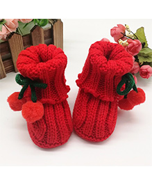 Dazzling Dolls High Cherry Booties - Red