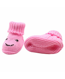 Dazzling Dolls High Up Warm & Cozy Booties - Pink