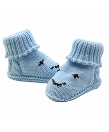 Dazzling Dolls High Up Warm & Cozy Booties - Blue