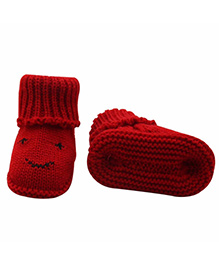Dazzling Dolls High Up Warm & Cozy Booties - Red