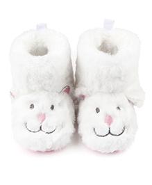 Dazzling Dolls Fuzzy Baby Boots - White