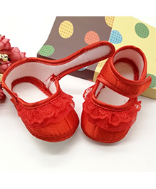 Dazzling Dolls Laced Pre-Walker Mary Janes - Red